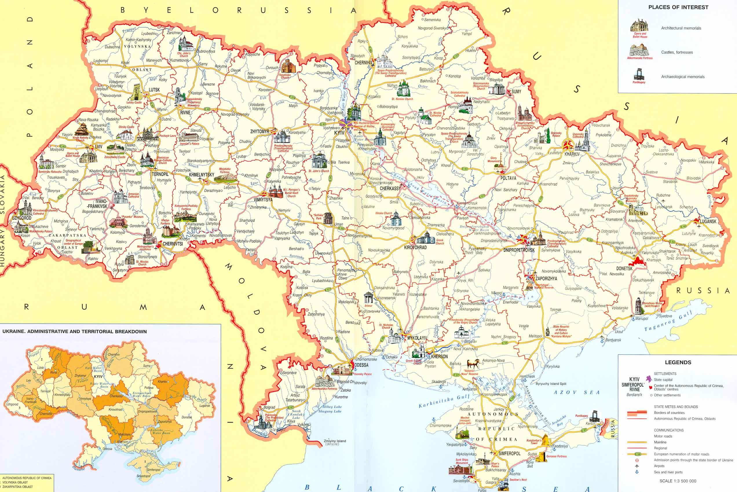 Mapa Turístico Ucrânia