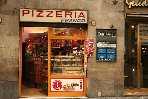 Pizzaria em florenca comer florenca italia for Decoracion pizzeria