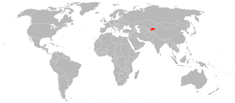 Mapa Quirguistao