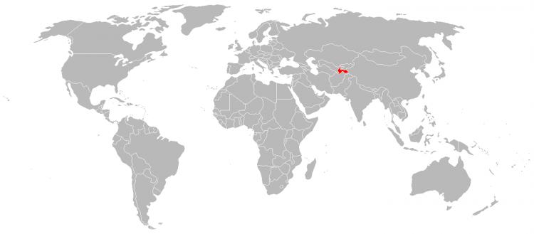 Mapa Tajiquistao