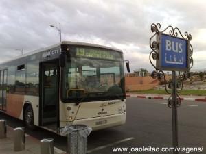 Autocarro Aeroporto de Marrakech até centro da cidade