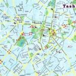 Mapa de Tashkent, Capital do Uzbequistão