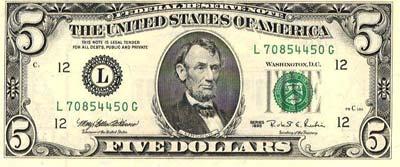 Dinheiro dos Estados Unidos da América, notas de Dólares americanos