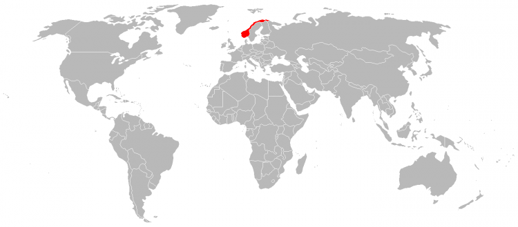 Mapa Noruega