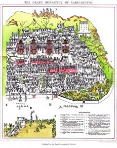 Mapa Mosteiro Tashilhunpo Tibete