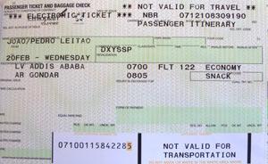 Bilhete de avião