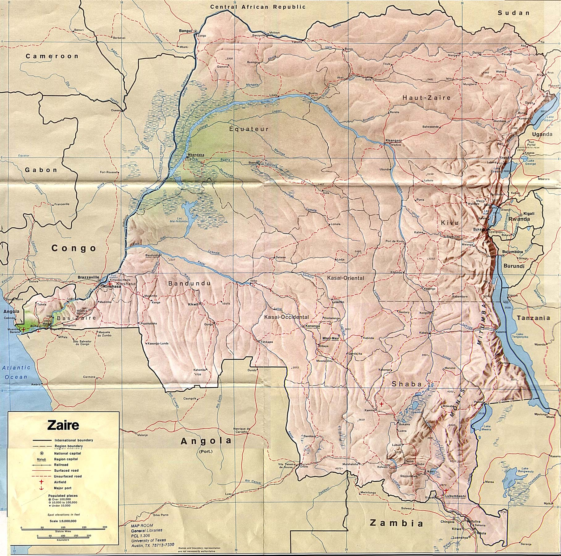Mapa Geografico do Congo