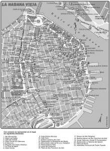 Mapa Monumentos de Havana