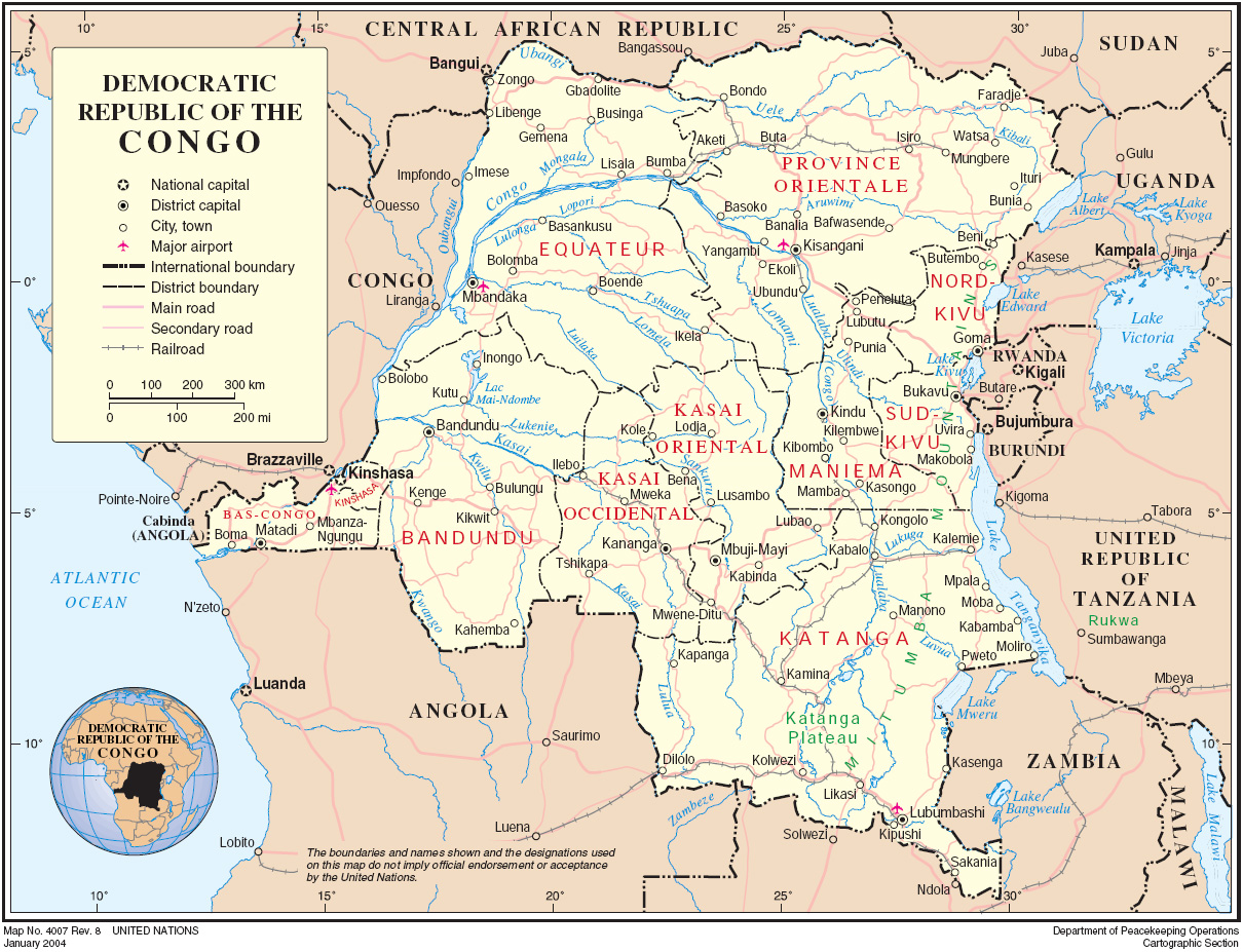 Mapa Geografico do Congo