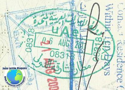 Stamp UAE (green)