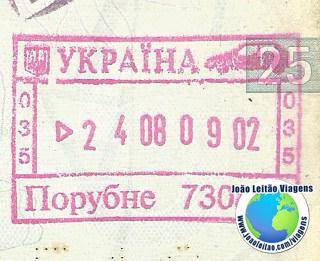 Carimbo Ucrania (rosa/carro)