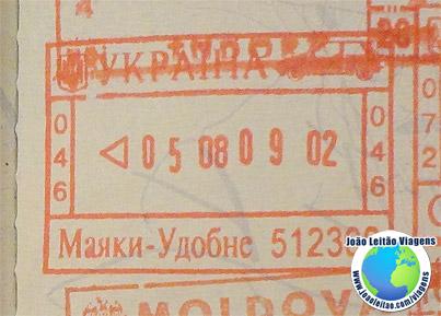 Carimbo Ucrania (vermelho/carro)