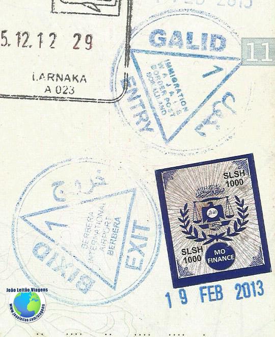 Carimbo Somalilandia
