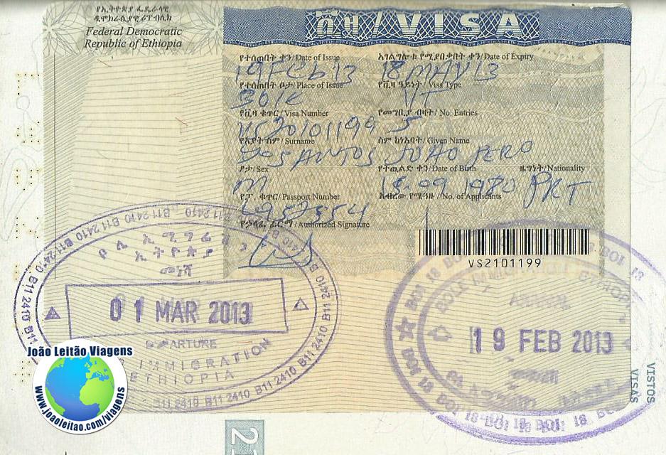 Visto Etiopia (aeroporto)
