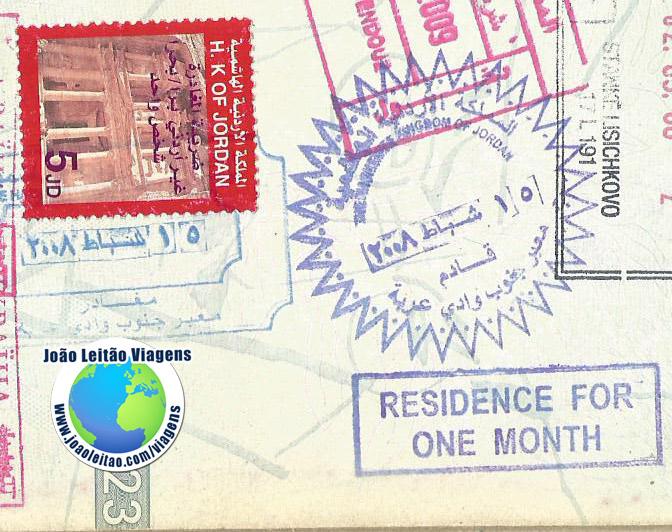 Visto Jordania (fronteira)