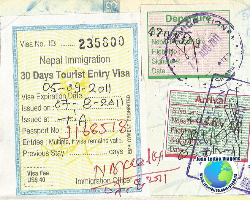 Visa Nepal (airport)