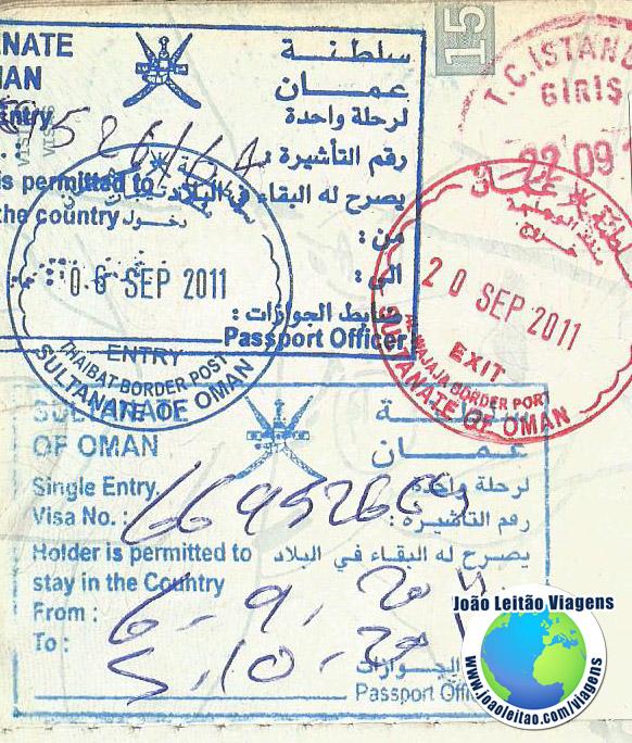 Visa Oman (border)