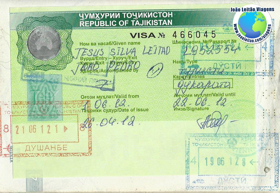 Visa Tajikistan (airport)
