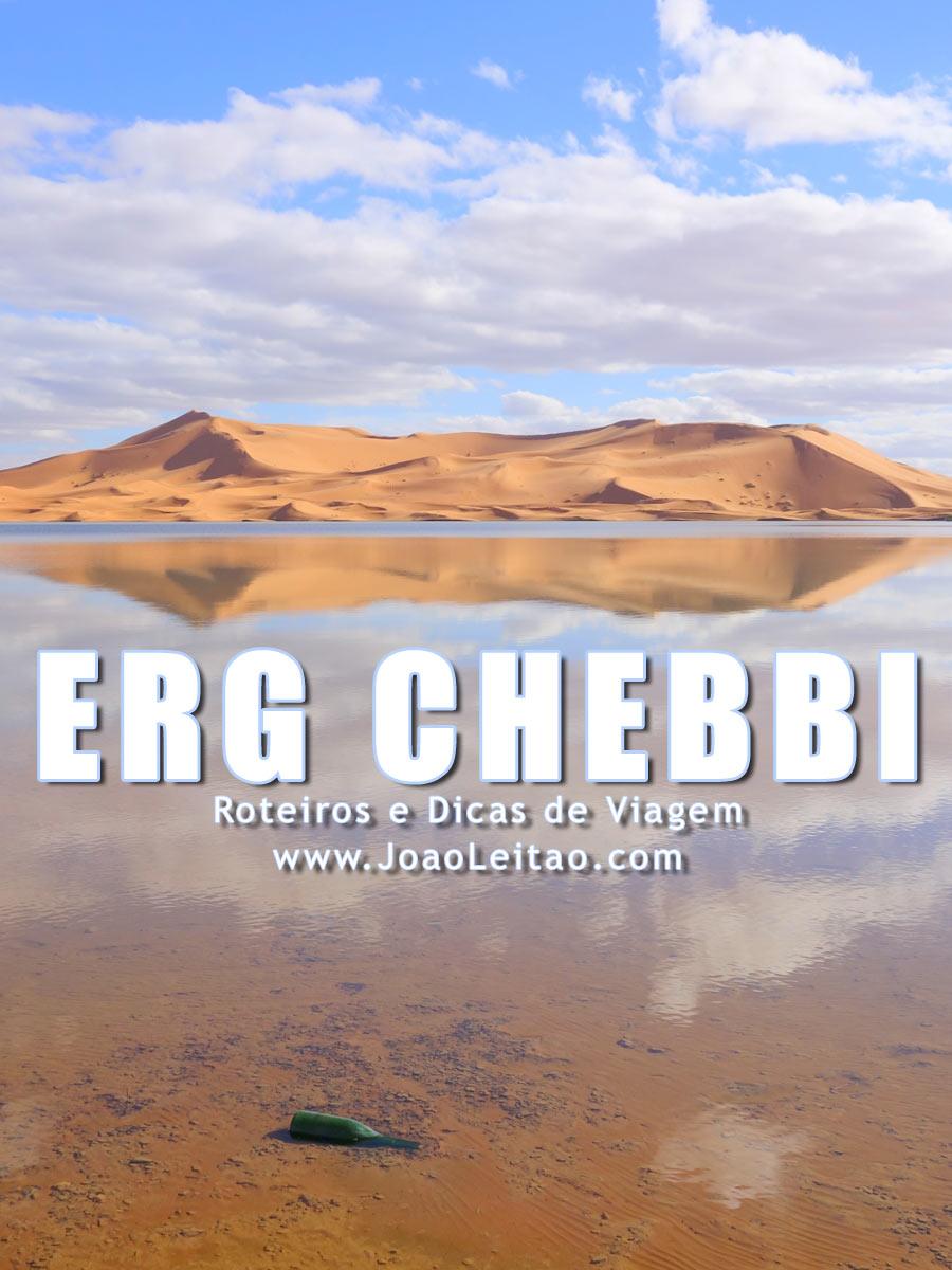 Dunas de Erg Chebbi perto de Merzouga