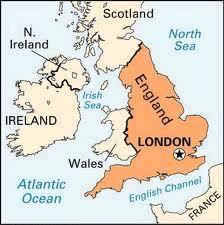 Mapa da localização da cidade de Londres