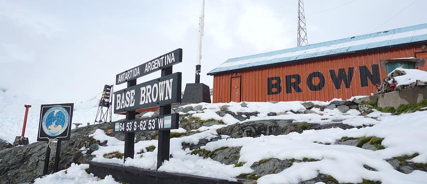Estação cientifica de Almirante Brown em Graham Land, Península Antártida
