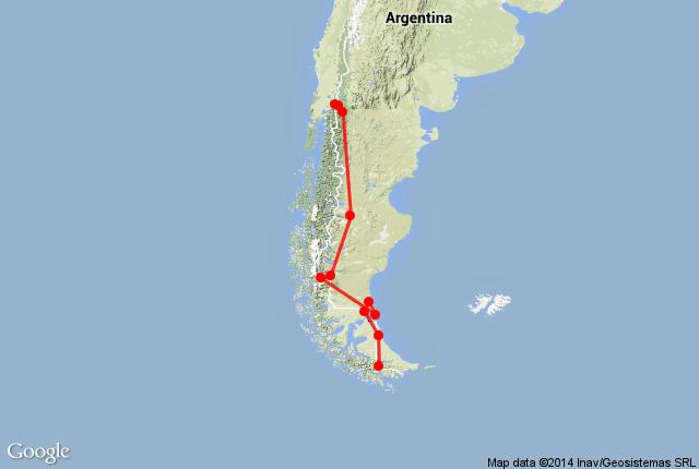 Mapa de dirigir na Argentina