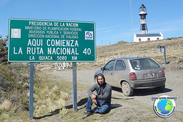 KM 0 da Ruta 40 no sul da Argentina