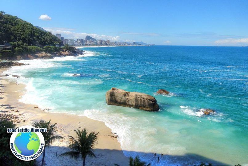 Praia do Hotel Sheraton no Rio de Janeiro, Brasil