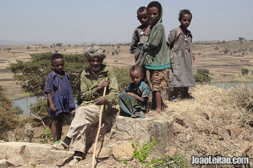 Família Etíope em Gorgora Nova