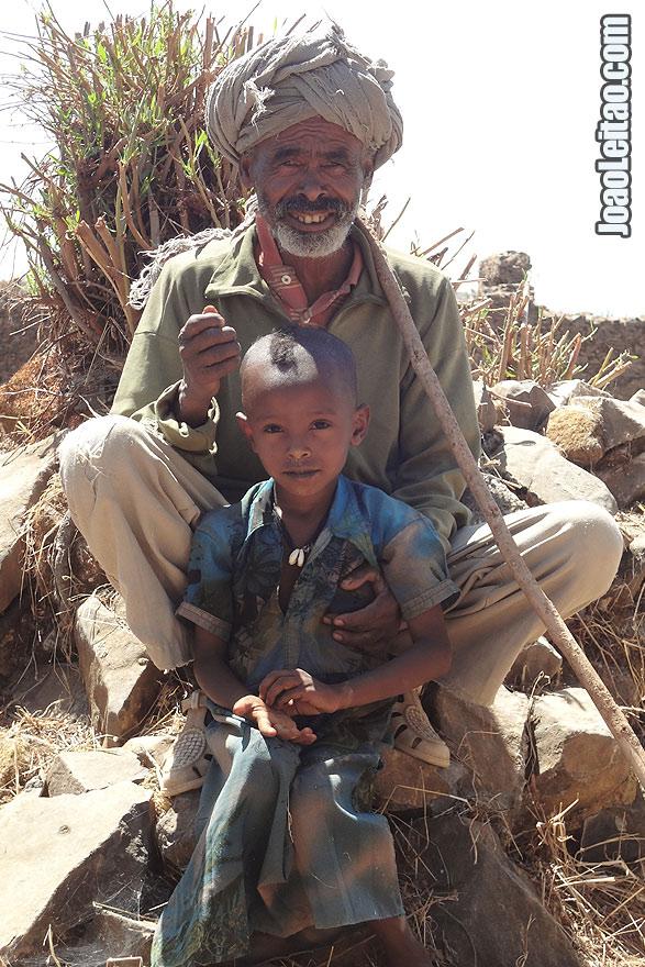 Pessoas na Etiópia perto do Lago Tana