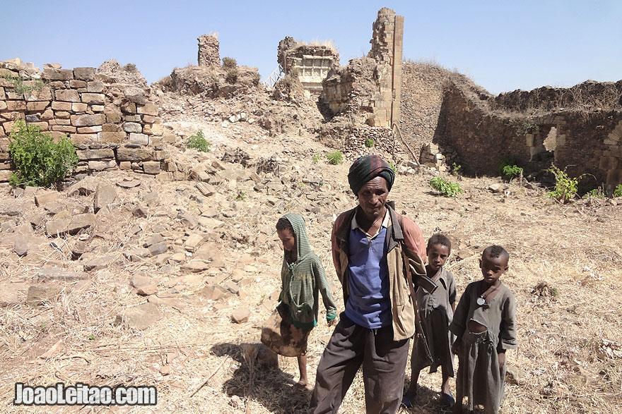 Visita às ruínas de Gorgora Nova, na Etiópia