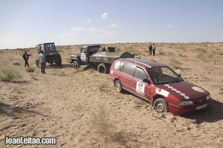 Areias do Sundukli no Uzbequistão