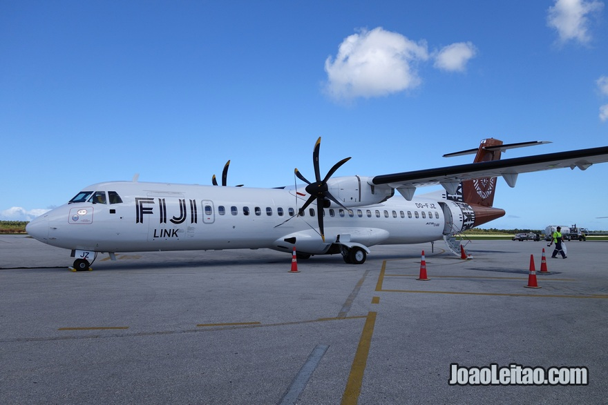 Avião nas Ilhas do Pacífico