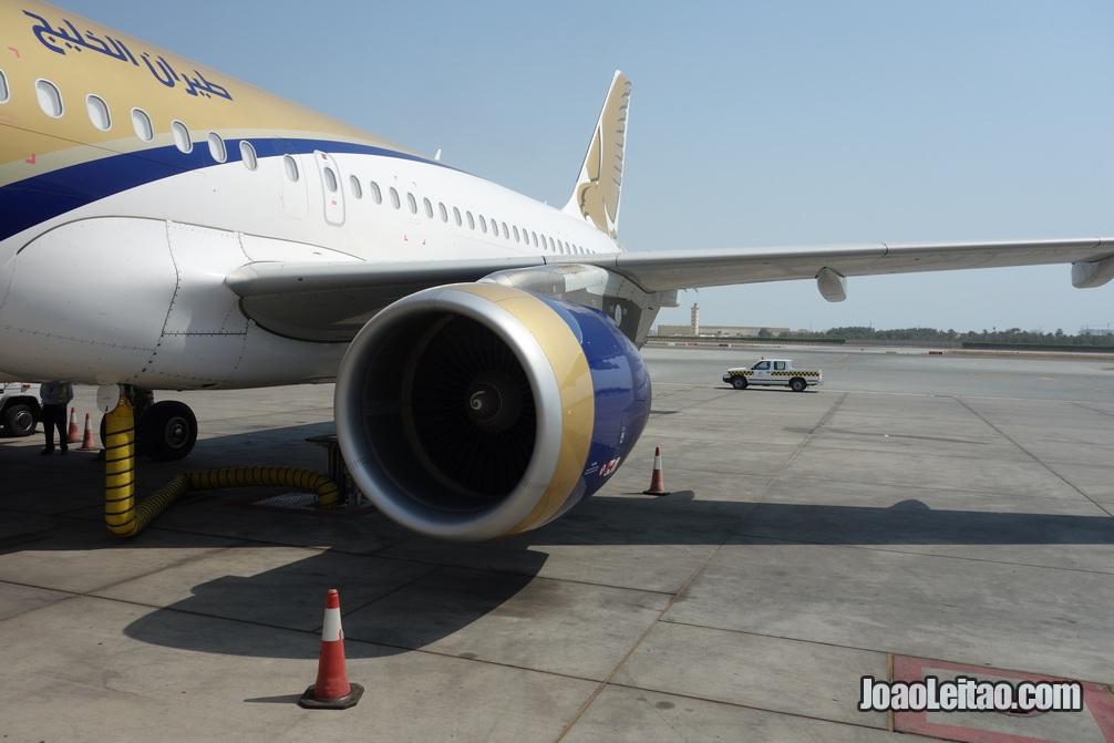 Avião da Gulf Air até ao Bahrein