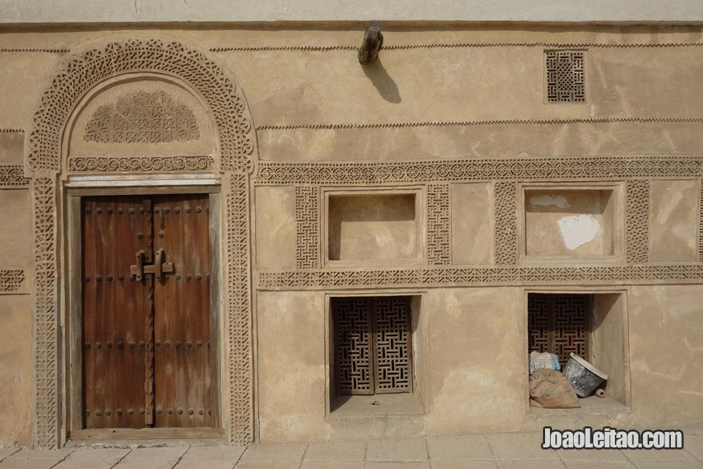Decoração de porta na casa do Shaikh Salman em Murharraq no Barein