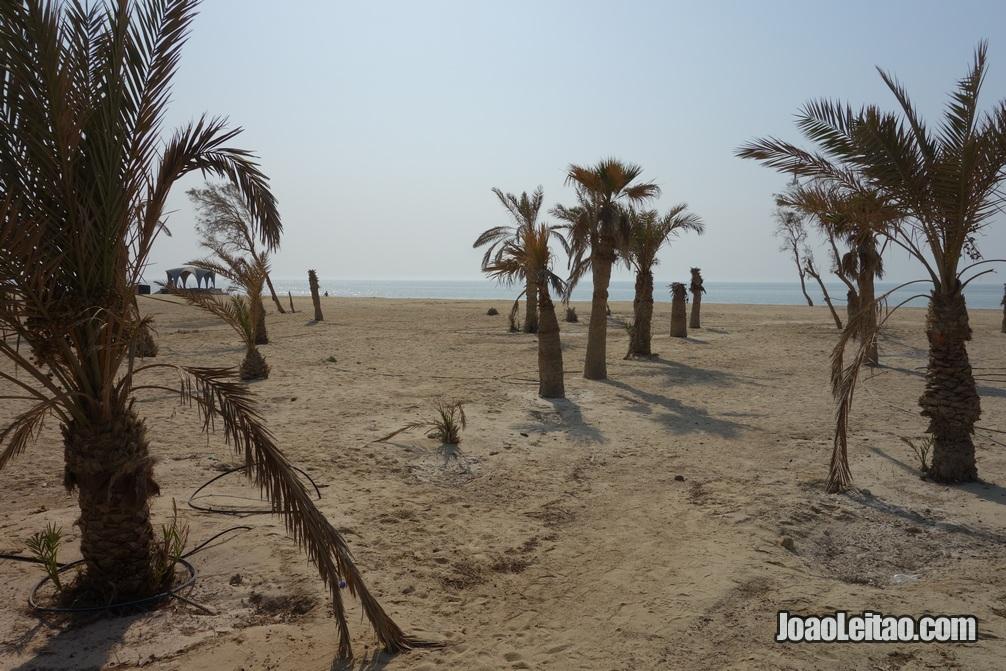 Praia de Al Jazair no Bahrein