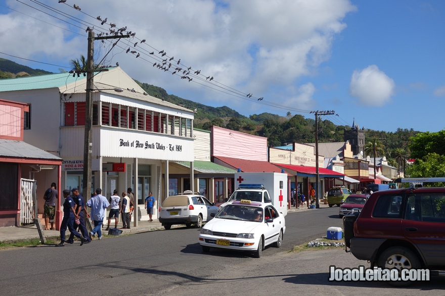 Fotografia do centro de Levuka na Ilha Ovalau nas Fiji