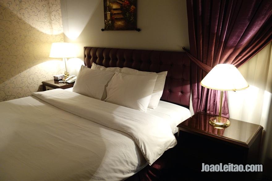 O meu quarto no Carlton Tower Hotel