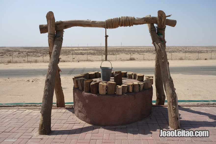 Poço no deserto do Kuwait em Abdali