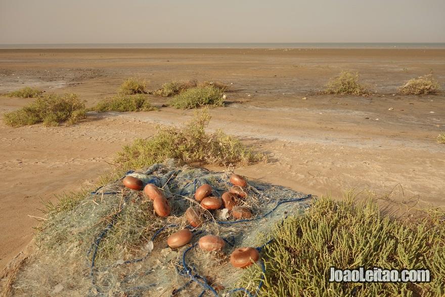 Redes de pesca no Delta dos rios Tigre e Eufrates