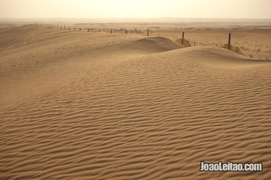 Dunas no deserto do Kuwait