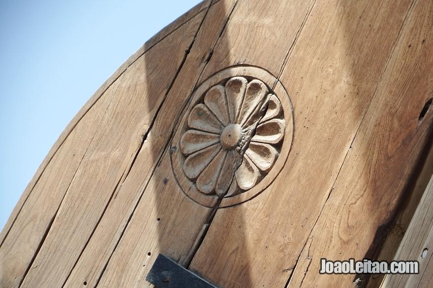 Pormenor de decoração de barco tradicional