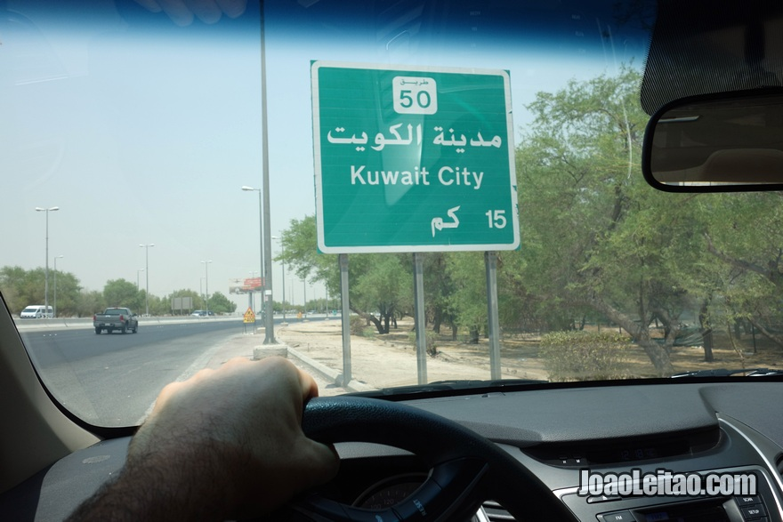 Chegando a Kuwait City