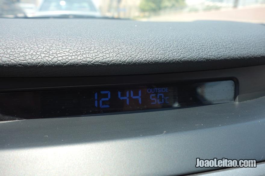 50 graus de temperatura no Kuwait
