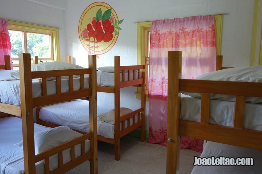 Quarto do Hostel Arts Village Backpackers em Pacific Harbour nas Ilhas Fiji