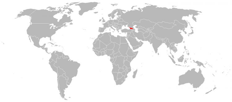 Mapa da Georgia