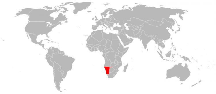 Mapa Namibia