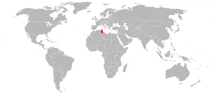 Mapa Tunisia