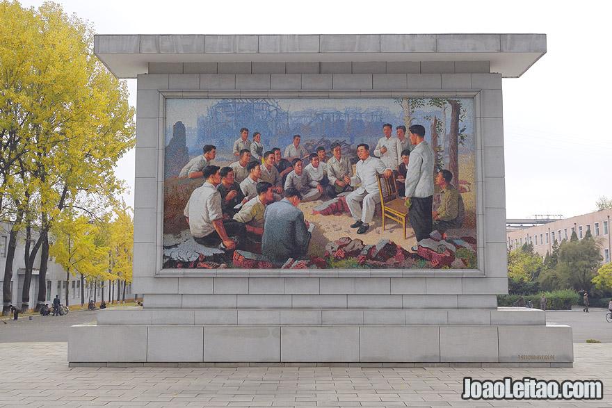 Mural de Kim Il-sung