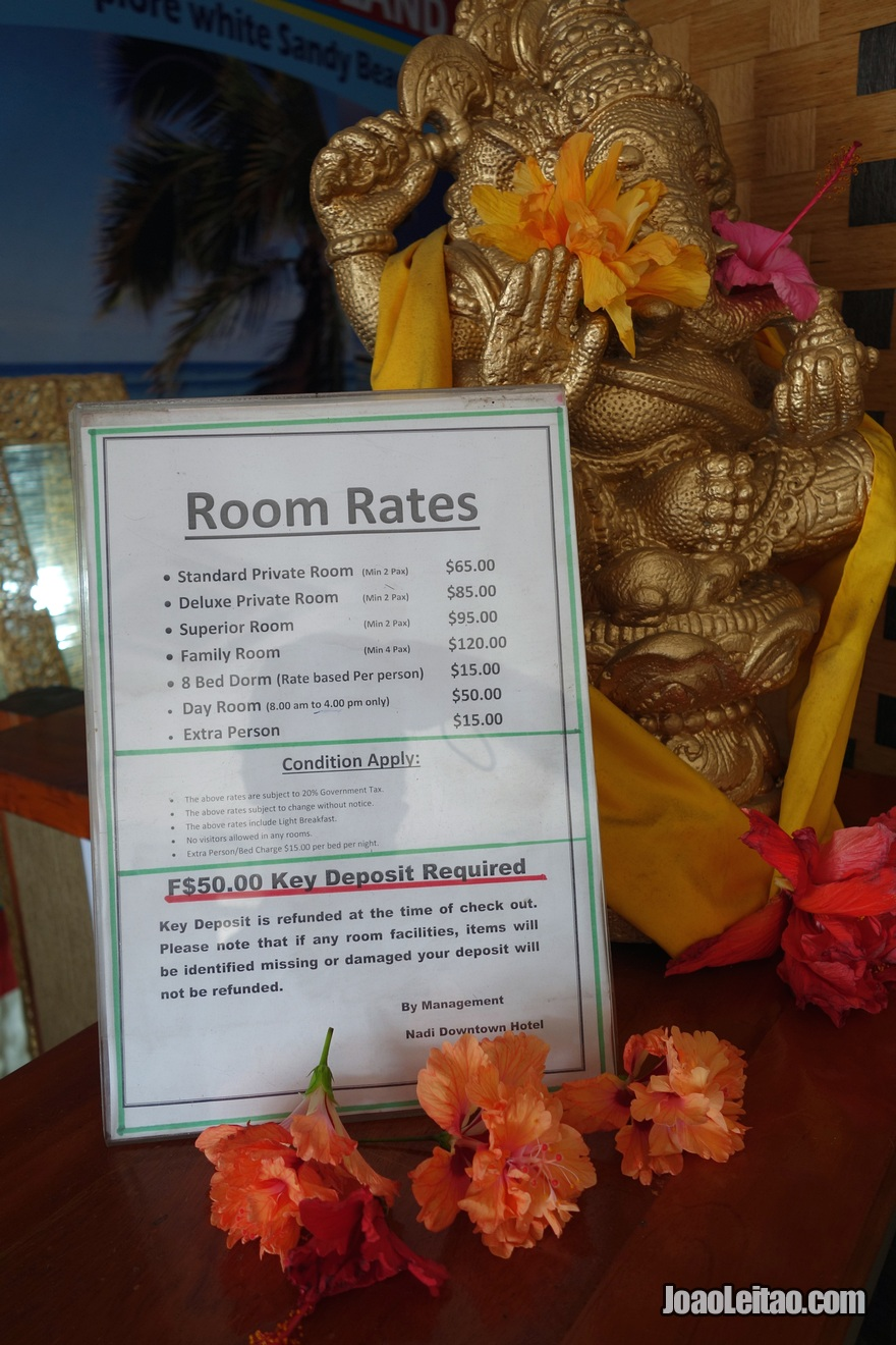 Preços do Nadi Downtown Hotel nas Ilhas Fiji